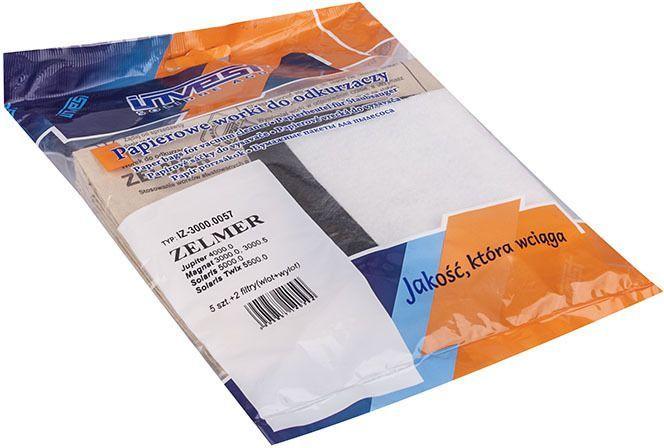 Worek do odkurzacza Zelmer Papierowy 5 sztuk + 2 filtry 1