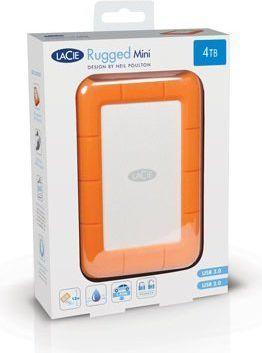 Dysk zewnętrzny LaCie HDD Rugged Mini 4 TB Pomarańczowo-srebrny (LAC9000633) 1