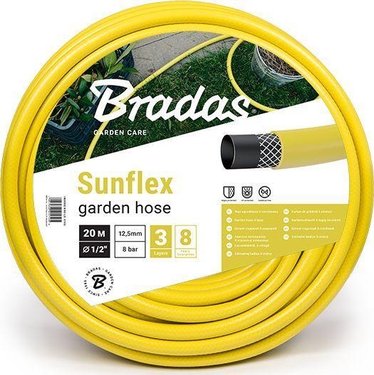 """Bradas Wąż ogrodowy Sunflex 3 warstwowy 1/2"""" 30m WMS1/230 Bradas 1766 1"""
