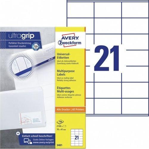 Avery Zweckform Etykiety 70x41mm - (3481) 1