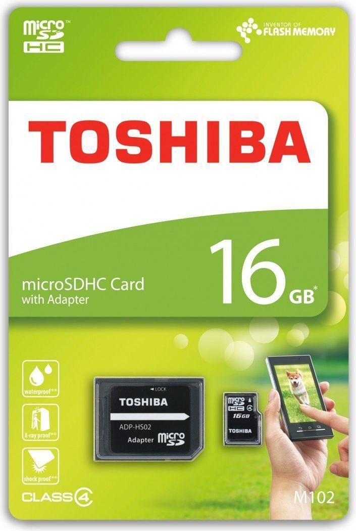 Karta Toshiba MicroSDHC 16 GB Class 4  (THN-M102K0160M2) 1