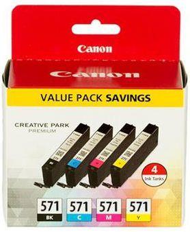 Canon CLI-571 zestaw tuszy (cyan/magenta/yellow/black) z zabezpieczeniem 0386C004 1