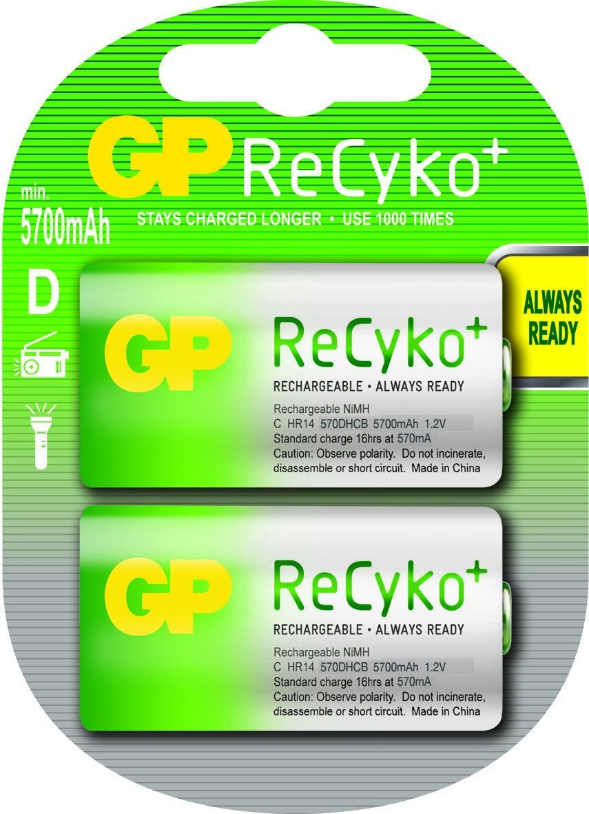 GP Akumulator ReCyko+ D / R20 5700mAh 2szt. 1