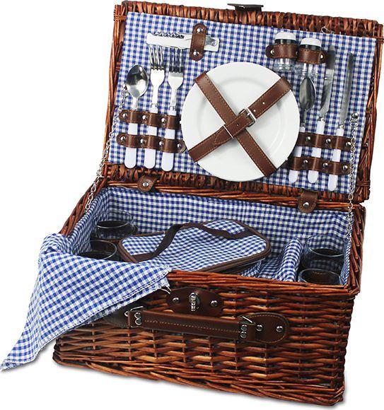 Kosz piknikowy bukowa polana, niebieski KBP 1
