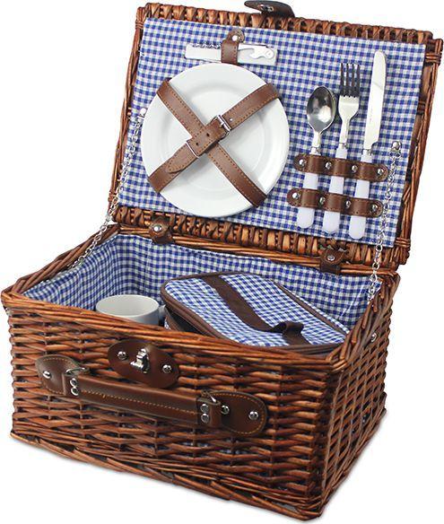 Kosz piknikowy leśne wspomnienie, niebieski KWL 1