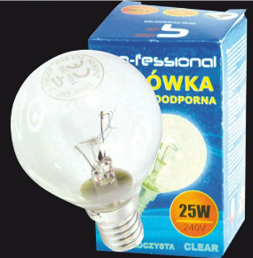 Pro-fessional Żarówka wstrząsoodporna kulka G45 E14 25W 1