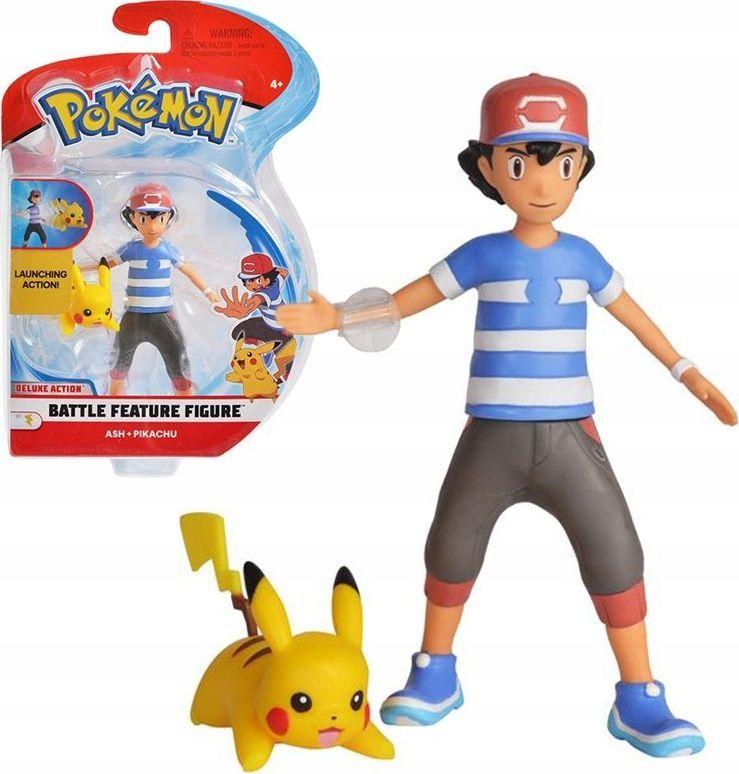 Wicked Cool Toys Figurka Pkemon Battle Ash i Pikachu 1