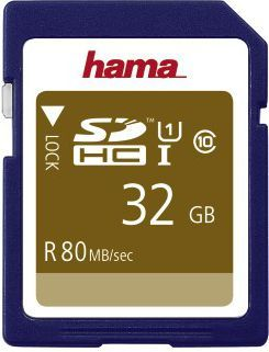Karta Hama Gold SDHC 32 GB Class 10 UHS-I/U1  (001241350000) 1