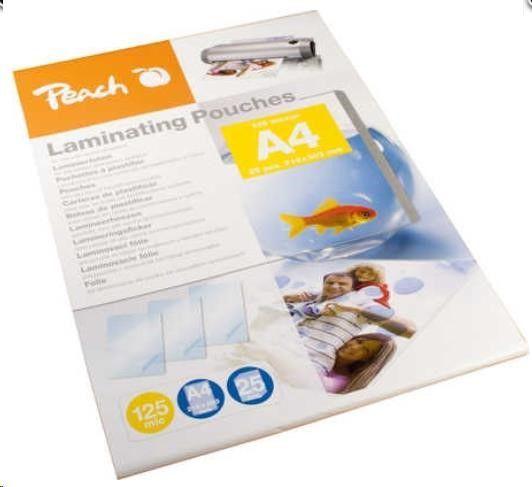 Peach Folia do laminowania A4, 216x303mm, 125mic, 25 Arkuszy (510438) 1