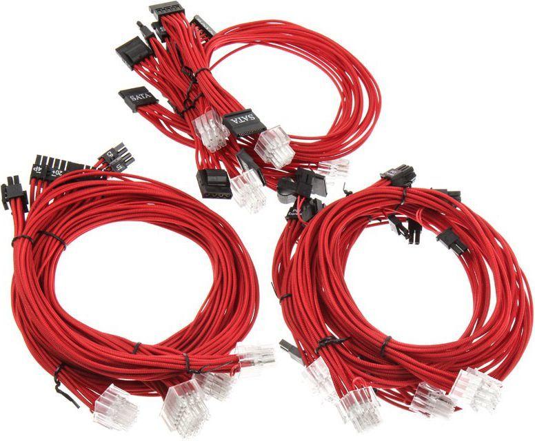 Super Flower Zestaw kabli zasilających, czerwony - SF-1000CS-RD 1