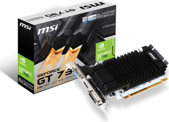 Karta graficzna MSI GeForce GT 730 Low Profile 2GB DDR3 (N730K-2GD3H/LP) 1