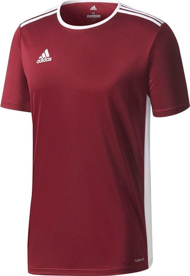 Adidas Koszulka dla dzieci adidas Entrada 18 Jersey JUNIOR bordowa CD8430/CE9564 : Rozmiar - 116cm 1