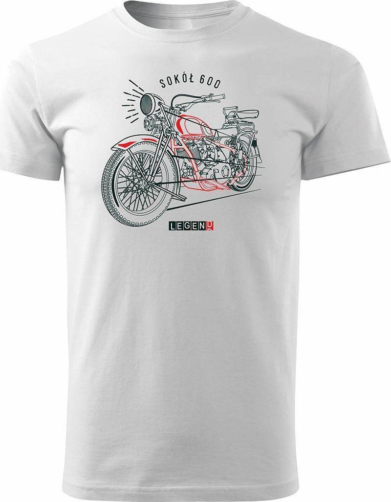 Topslang Koszulka motocyklowa na motor Sokół 600 męska biała REGULAR XL 1