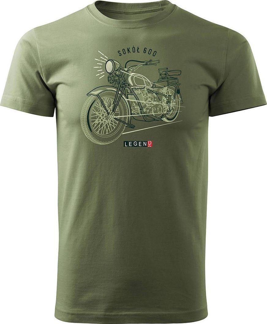 Topslang Koszulka motocyklowa na motor Sokół 600 męska khaki REGULAR M 1