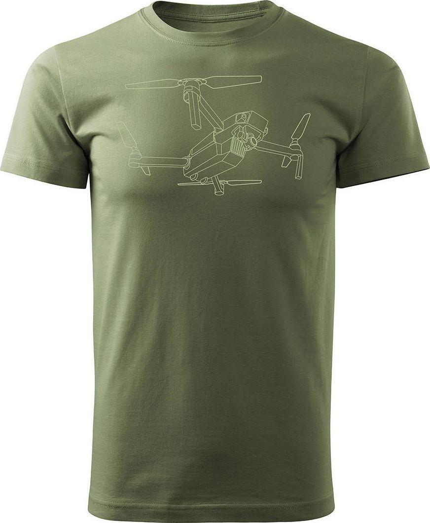 Topslang Koszulka z dronem dron drone quadrocopter męska khaki REGULAR XXL 1