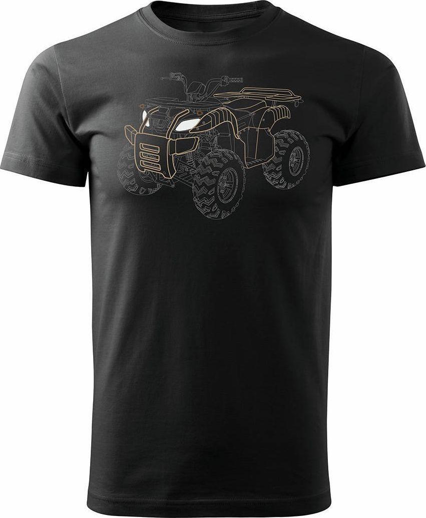 Topslang Koszulka z Quadem na Quada Quad ATV Off Road Cross na kłada męska czarna REGULAR XL 1