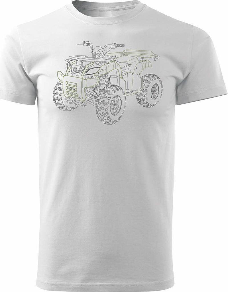 Topslang Koszulka z Quadem na Quada Quad ATV Off Road Cross na kłada męska biała REGULAR M 1