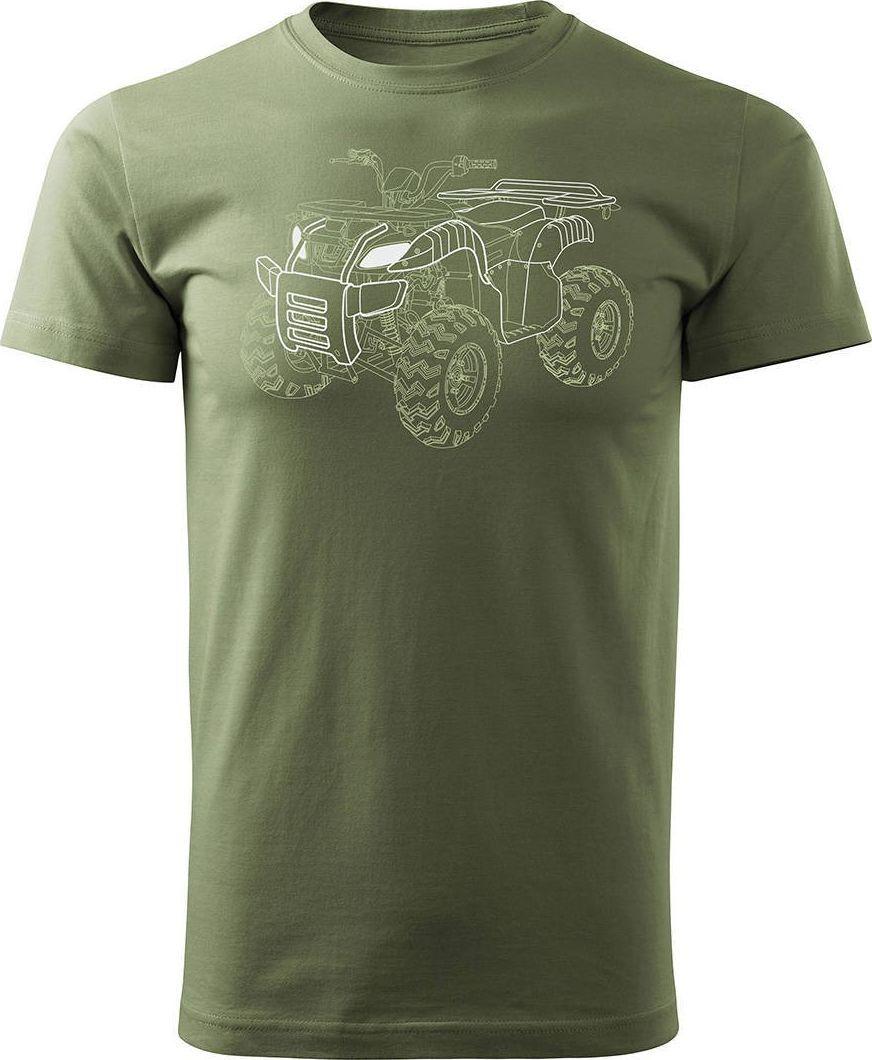 Topslang Koszulka z Quadem na Quada Quad ATV Off Road Cross na kłada męska khaki REGULAR L 1