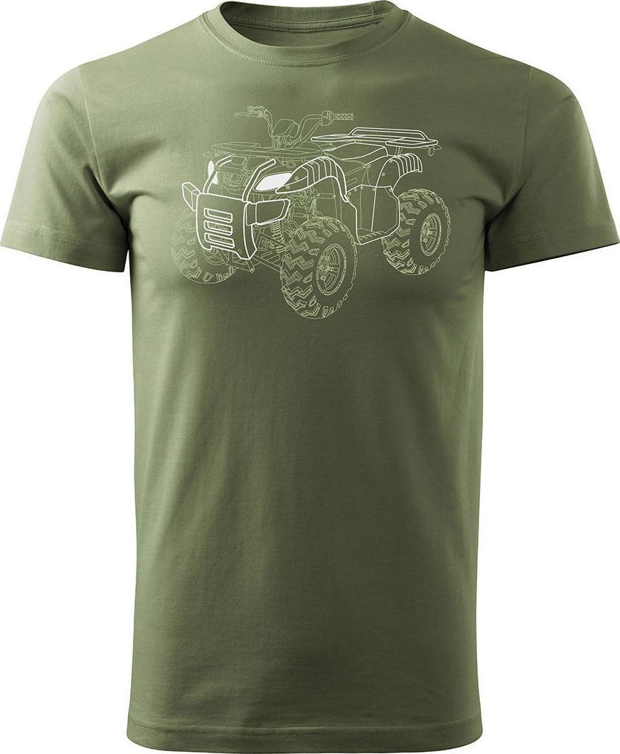 Topslang Koszulka z Quadem na Quada Quad ATV Off Road Cross na kłada męska khaki REGULAR XXL 1