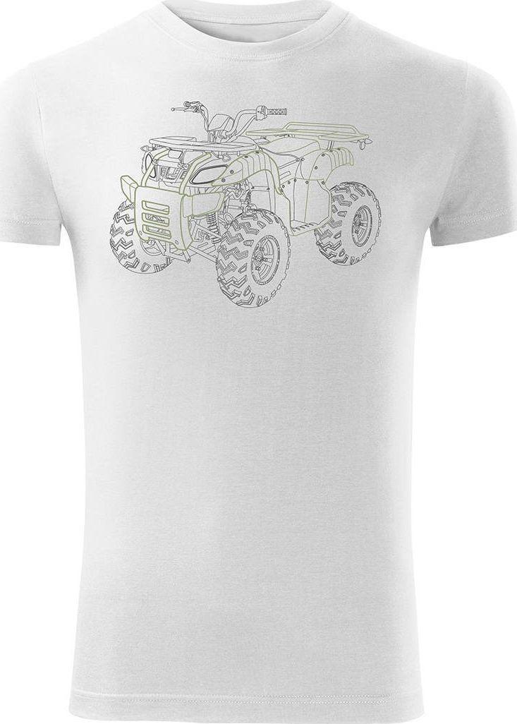 Topslang Koszulka z Quadem na Quada Quad ATV Off Road Cross na kłada męska biała SLIM S 1