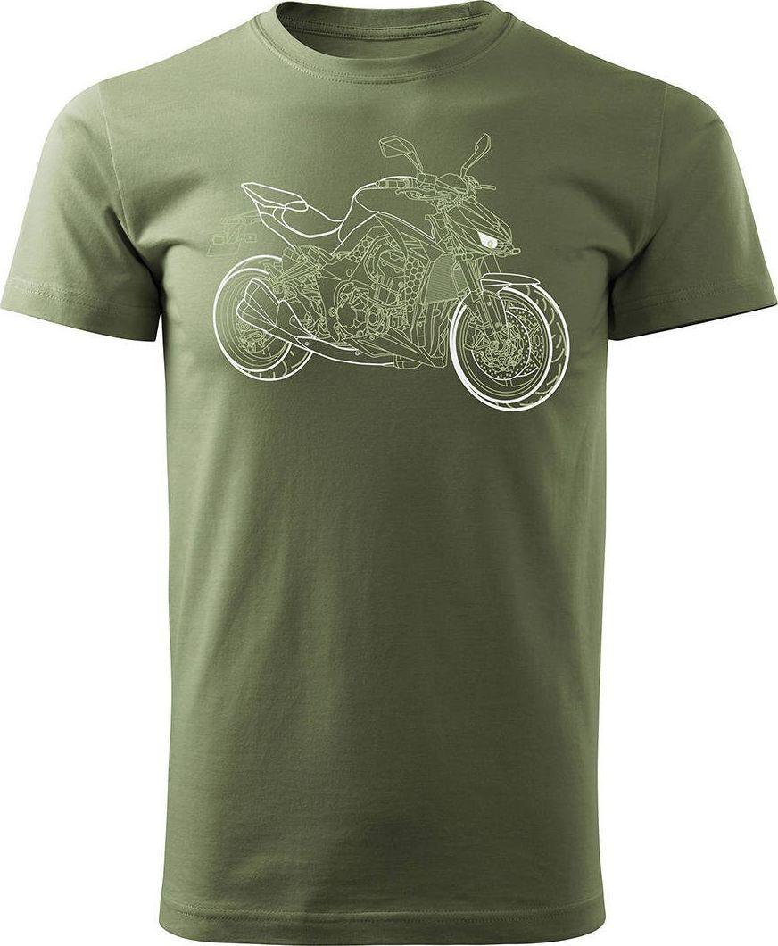Topslang Koszulka motocyklowa na motor Kawasaki 1000R męska khaki REGULAR XL 1