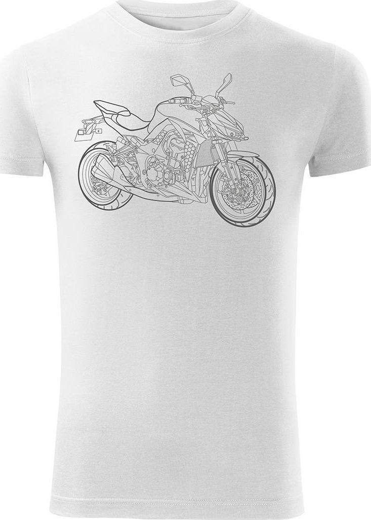Topslang Koszulka motocyklowa na motor Kawasaki 1000R męska biała SLIM XL 1