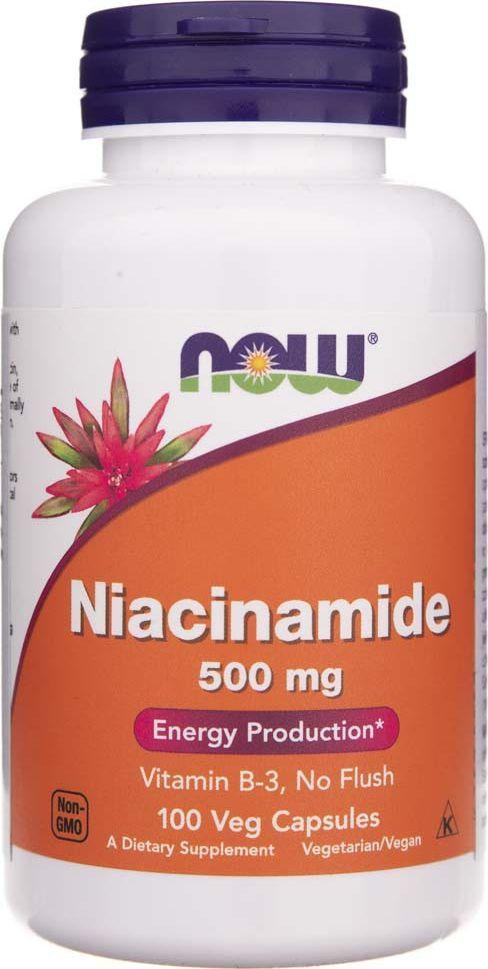 NOW Foods Now Foods Niacynamid 500 mg - 100 kapsułek 1