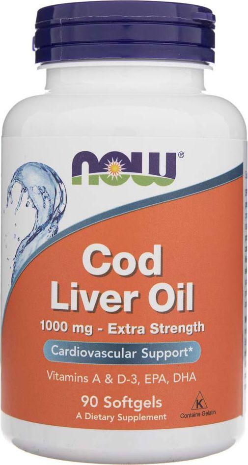 NOW Foods Now Foods Cod Liver Oil (Tran) 1000 mg - 90 kapsułek 1