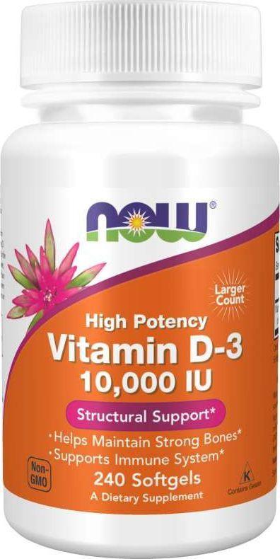 NOW Foods Now Foods Witamina D3 10000 IU - 240 kapsułek 1