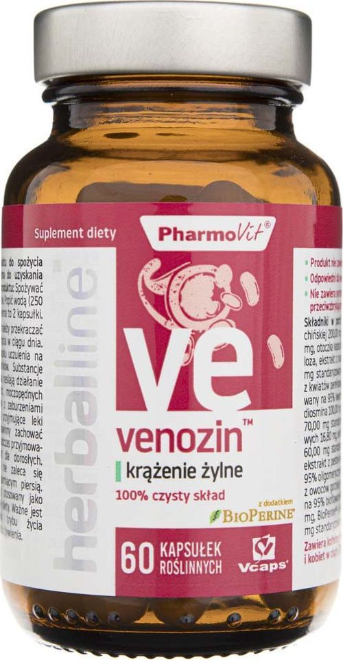 Pharmovit Pharmovit Venozin krążenie żylne - 60 kapsułek 1