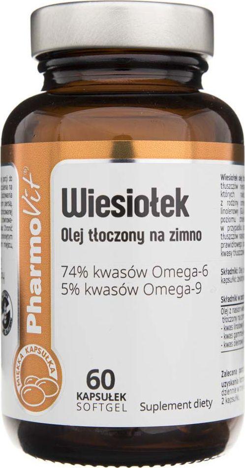 Pharmovit Pharmovit Wiesiołek olej tłoczony na zimno - 60 kapsułek 1