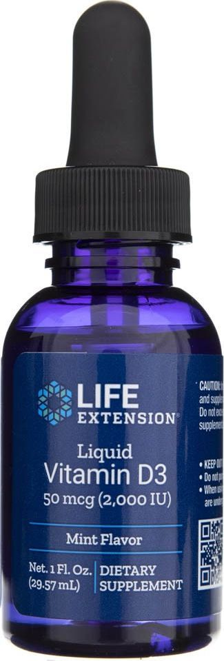 Life Extension Life Extension Witamina D3 2000 IU w kroplach - 29,57 ml 1