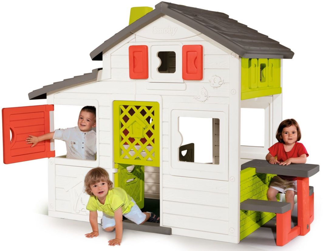 Smoby Domek Friends House z dzwonkiem i ogródkiem (7600310209) 1