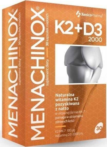 XENICOPHARMA Witamina K2 + D3 2000 Suplement Diety na odporność 30 kaps. - Menachinox 1