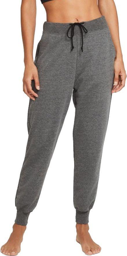 Nike Spodnie Nike Yoga Women's French Terry Fleece 7/8 Joggers szare r. L 1