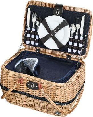 Cilio Kosz piknikowy dla 4 osób Cilio, 40 x 28 x 25 cm, jasnobrązowy 1
