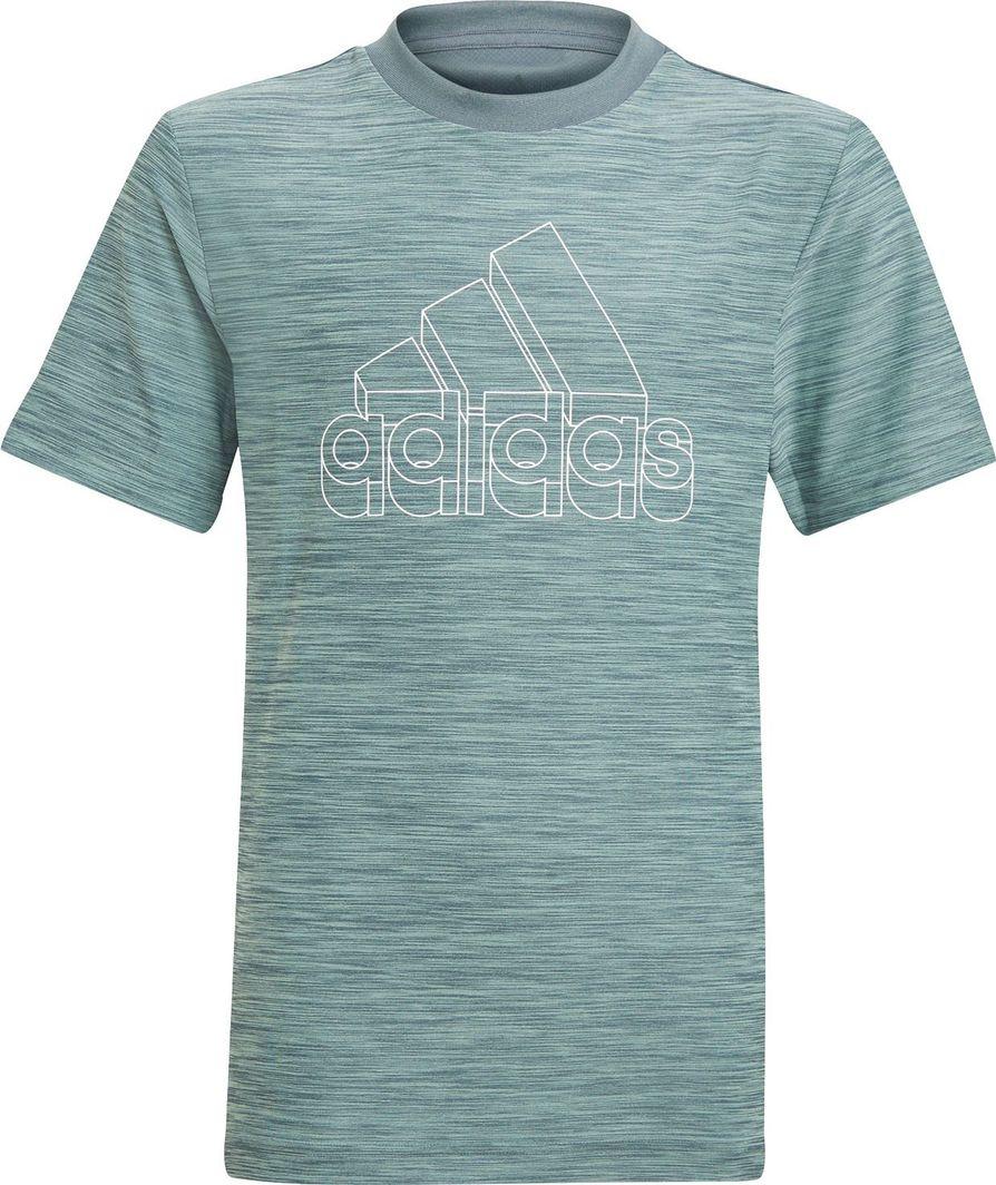 Adidas adidas JR Aeroready Heather t-shirt 899 : Rozmiar - 140 cm 1