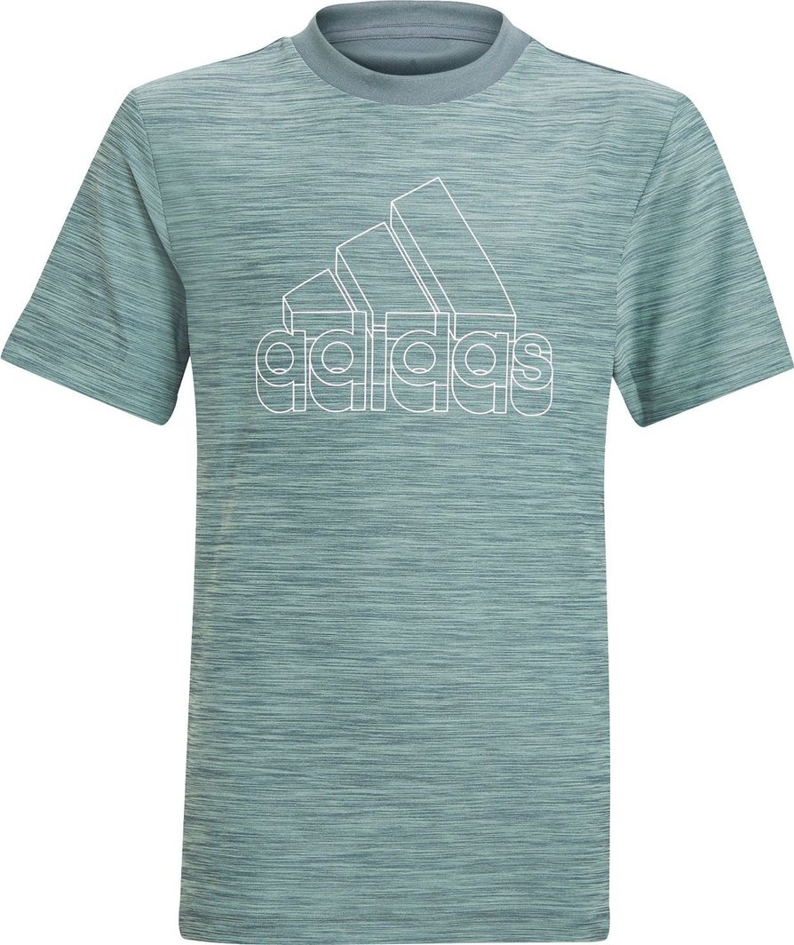 Adidas adidas JR Aeroready Heather t-shirt 899 : Rozmiar - 176 cm 1