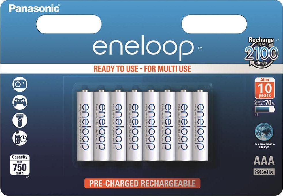 Panasonic Akumulator Eneloop AAA / R03 750mAh 8szt. 1