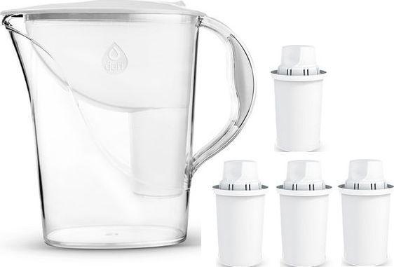 Dzbanek filtrujący Dafi Atria + 4 wkłady classic 2.4L biały 1