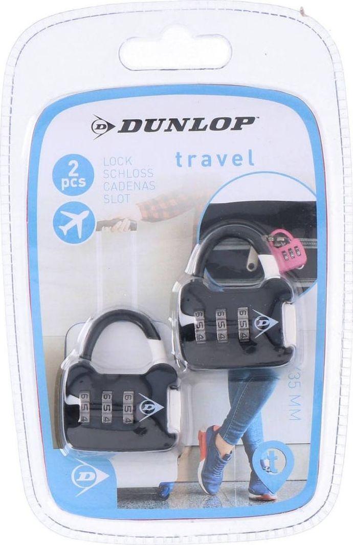 Dunlop Zestaw kłódek bagażowych na szyfr czarny 1