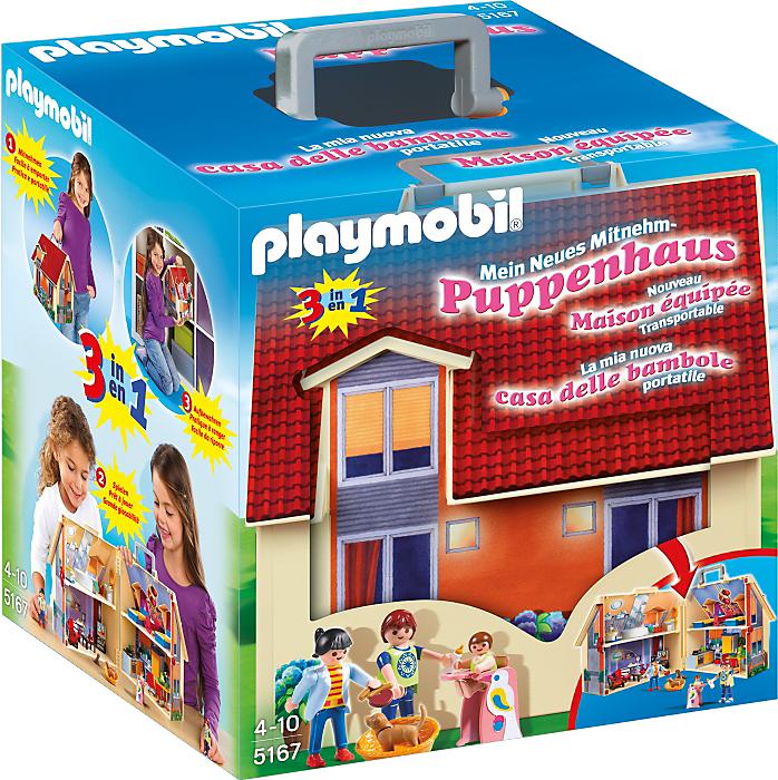 Playmobil Nowy przenośny domek dla lalek (5167) 1