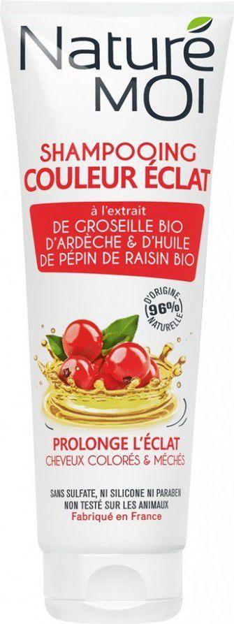 Nature Moi Szampon do Włosów Farbowanych z Olejem z Pestek Winogron i Organiczną Czerwoną Porzeczką 250ml 1