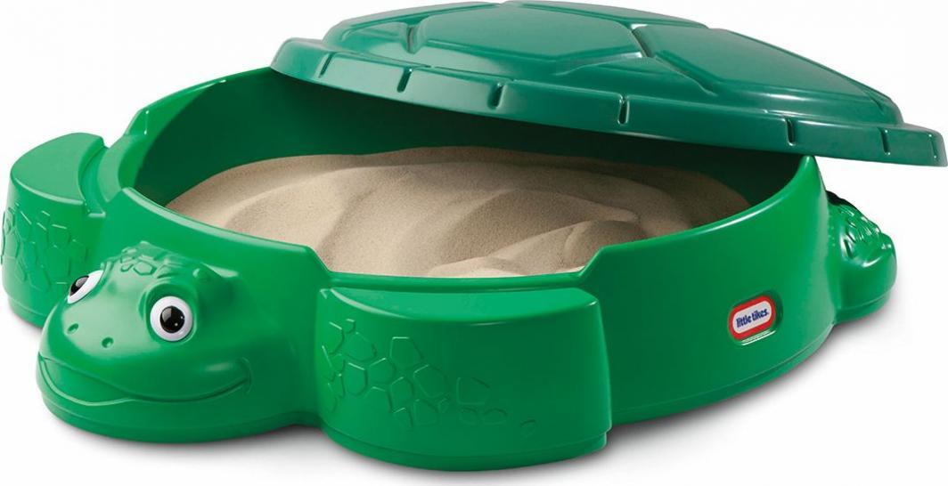 Little Tikes Piaskownica z pokrywą Żółw zielona 110x93 cm 632884E3 1