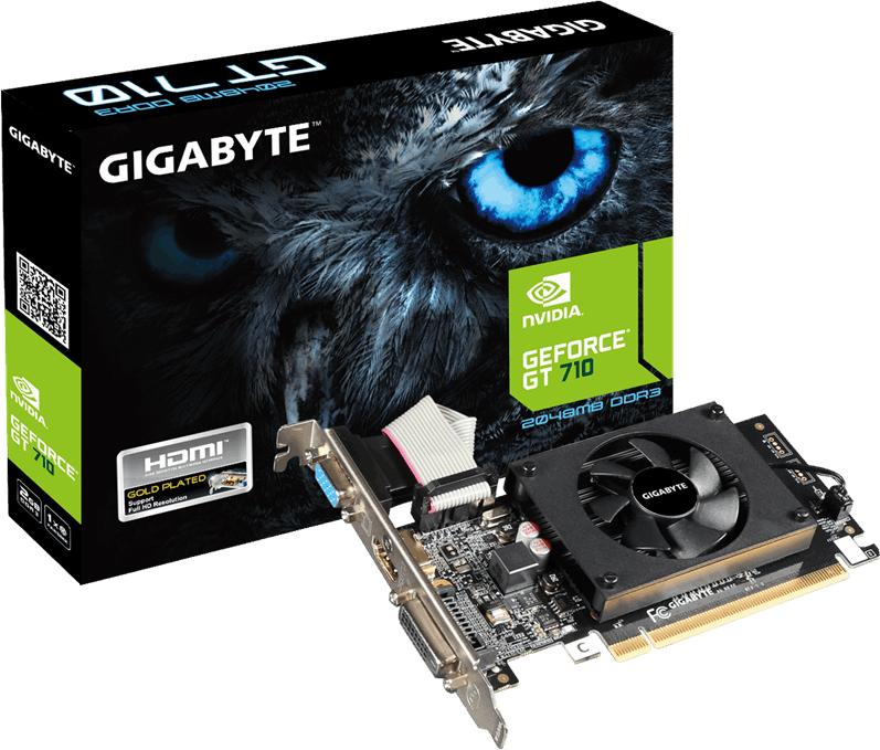 Karta graficzna Gigabyte GeForce GT 710 2GB DDR3 (GV-N710D3-2GL) 1