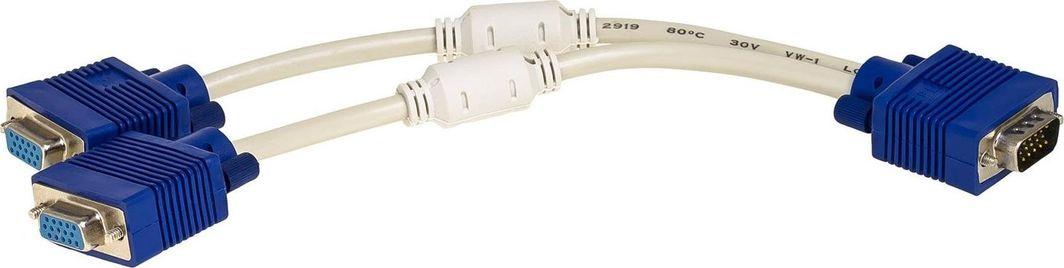 Akyga D-Sub (VGA) x2 D-Sub (VGA), 0.25m, Biały (AK-AD-20) 1