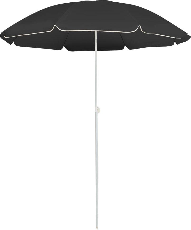 vidaXL Parasol ogrodowy na stalowym słupku, antracytowy, 180 cm 1