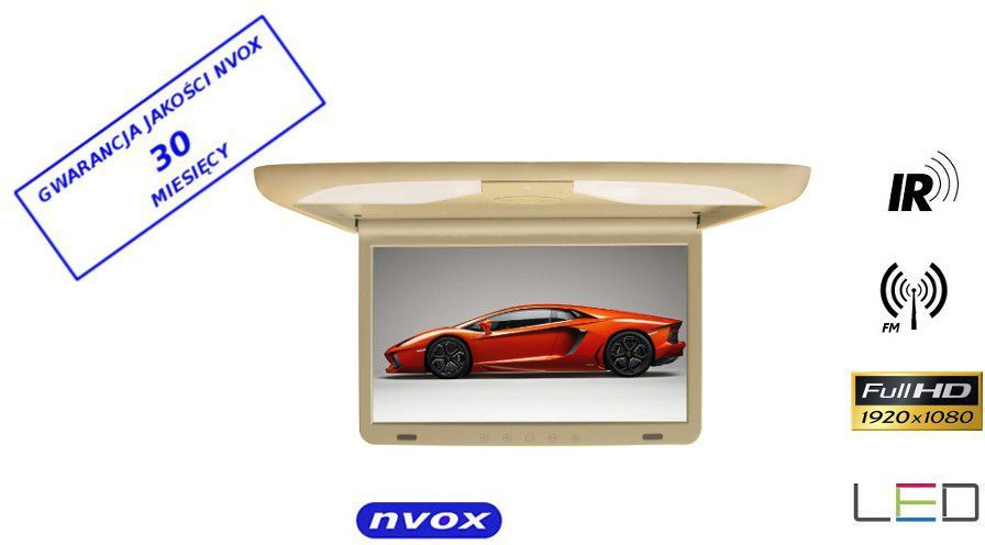 Nvox Monitor Podsufitowy LED 17'' (RF1738IR) Beżowy 1