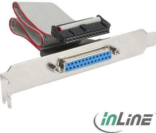 InLine Śledź LPT1 DB25 żeński 0.25m (33225) 1