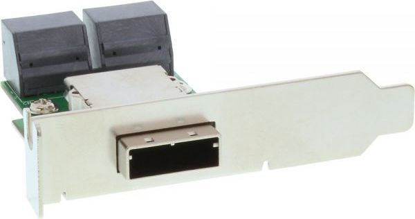 InLine SAS Low Profile Adapter Bracket zewn. SFF-8088 TARGET OUT - wewn. 4x SATA HOST IN (27653I) 1